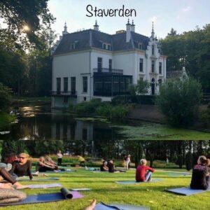 Yoga workshop in de buitenlucht - landgoed kasteel Staverden